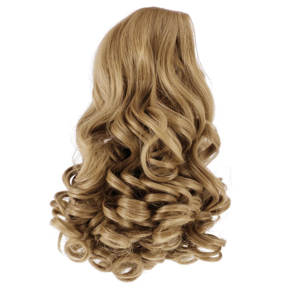 Straight-Wavy-Curly-Hair-Wig-for-18-039-039-Dolls-Clothes-Accessories thumbnail 9