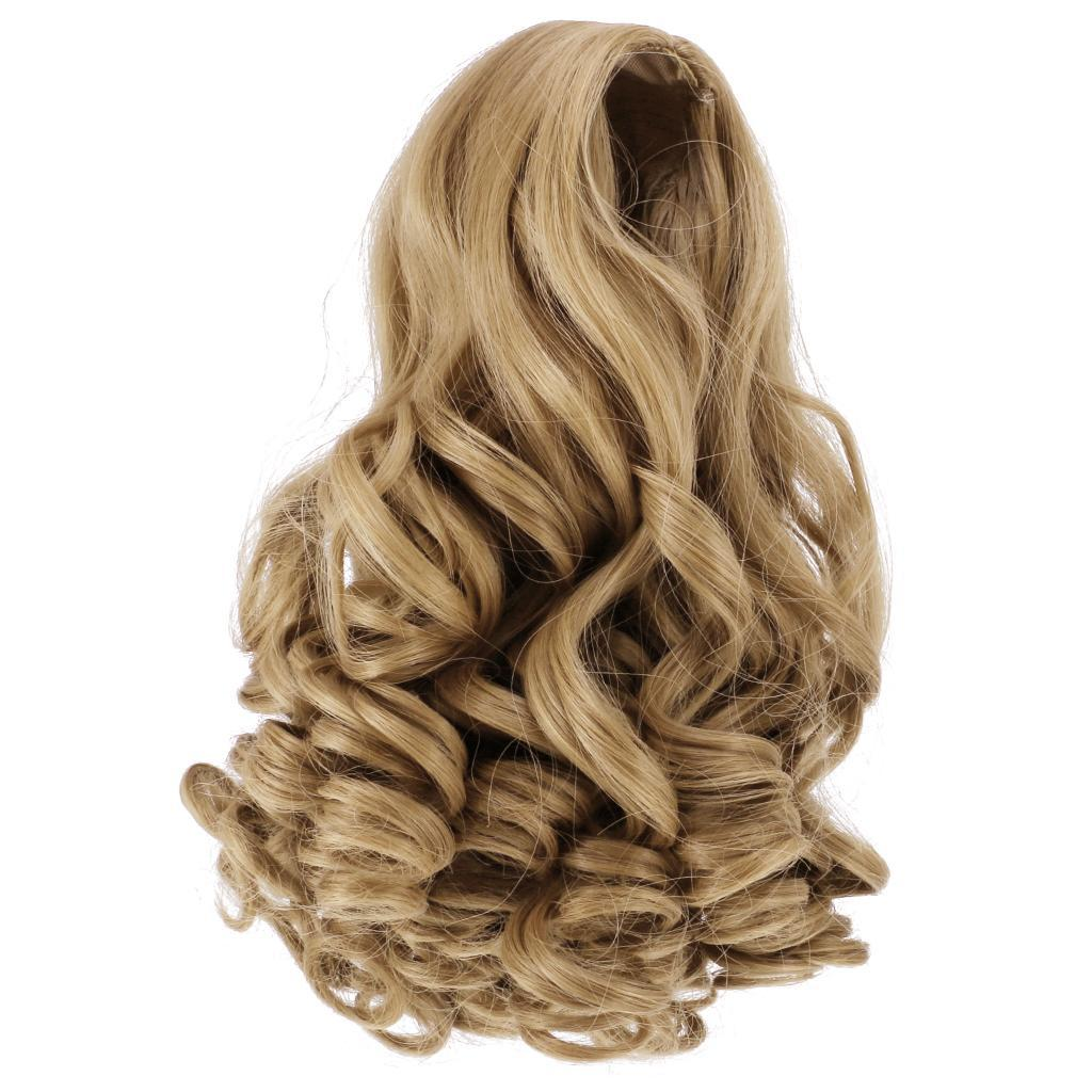 Straight-Gradient-Curly-Hair-Wig-for-18-039-039-Doll-Dress-up-Accessory thumbnail 9