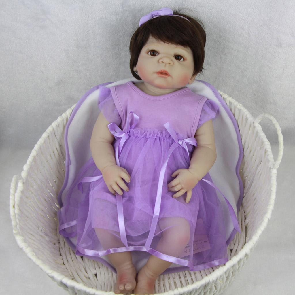 Lifelike-Baby-Dolls-Romper-Clothes-Headdress-for-22-039-039-23-039-039-Reborn-Baby-Girl-Doll thumbnail 5