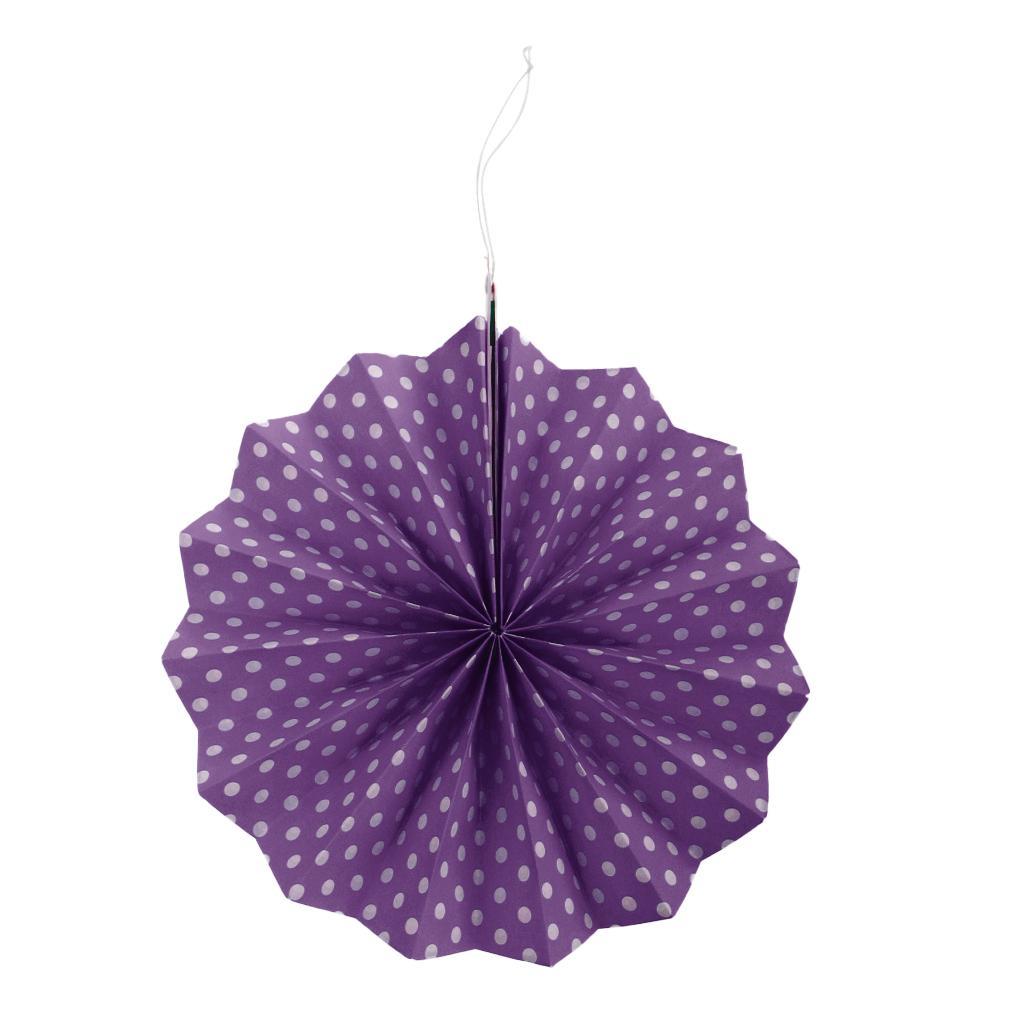 6pcs//Set Paper Pinwheel Folding Hanging Fan Wedding Party Decoration Backdrop