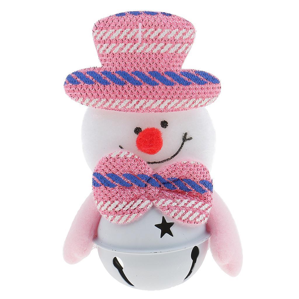 Peluche-Con-Campana-Pupazzo-Di-Neve-Babbo-Natale-Alce-Orso-Ornamenti-Per miniatura 6