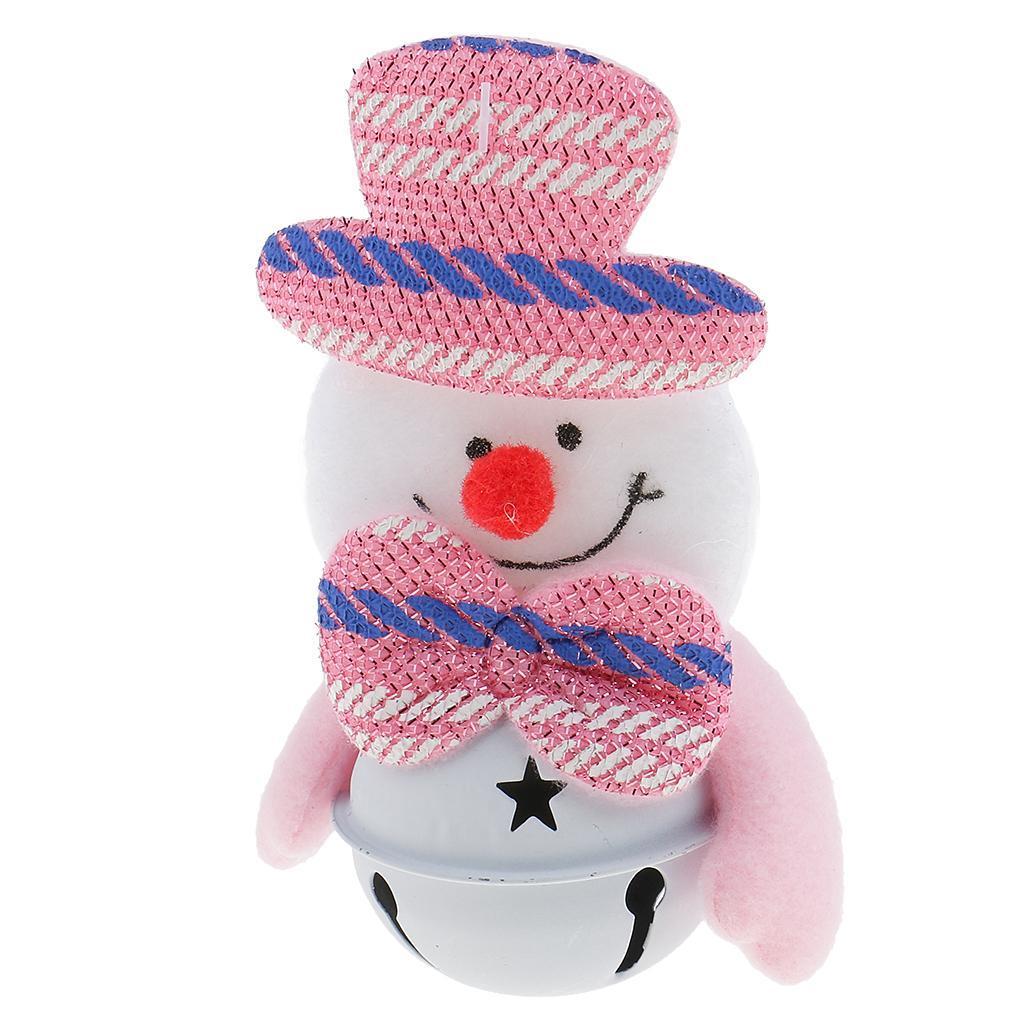Peluche-Con-Campana-Pupazzo-Di-Neve-Babbo-Natale-Alce-Orso-Ornamenti-Per miniatura 4