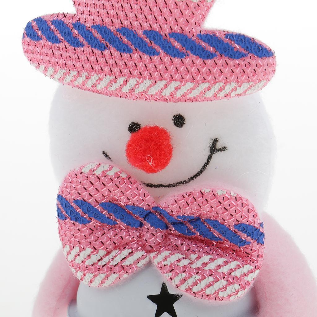 Peluche-Con-Campana-Pupazzo-Di-Neve-Babbo-Natale-Alce-Orso-Ornamenti-Per miniatura 5