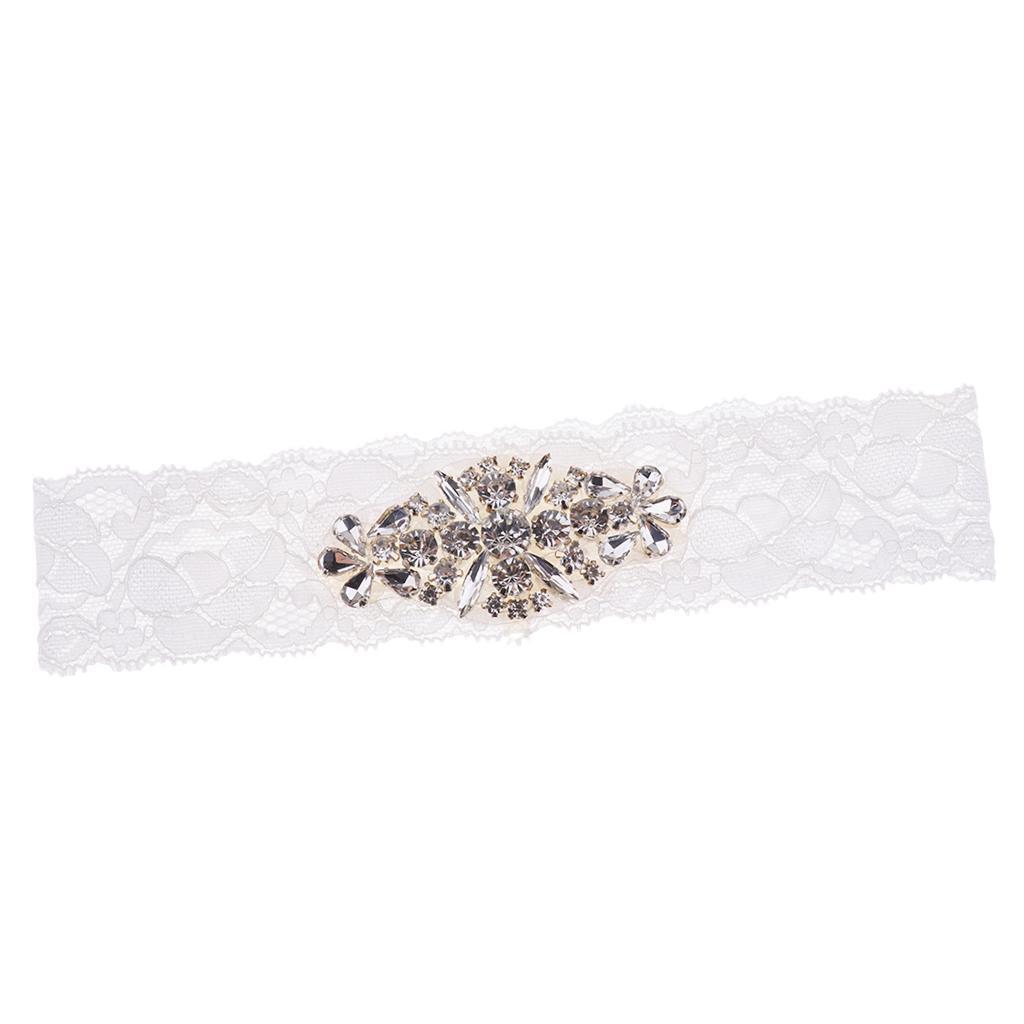 Wedding-Bride-Crystal-Lace-Garter-Belt-Throwaway-Toss-Hen-Stag-Party thumbnail 5