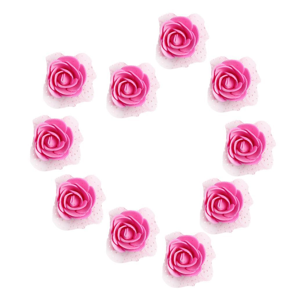 100-Pieces-Romantique-Mousse-Artificielle-Rose-Tete-Fleurs-De-Mariage miniature 11