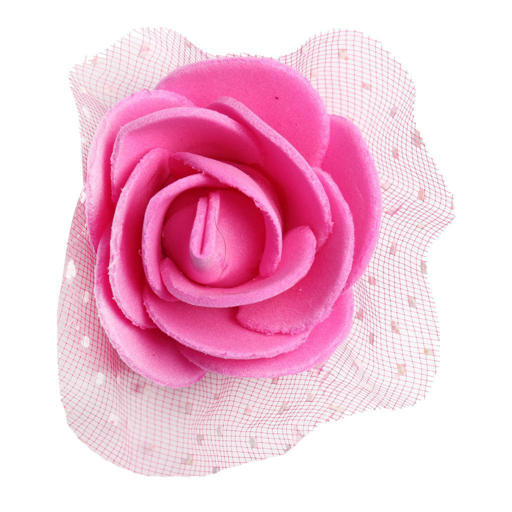 100-Pieces-Romantique-Mousse-Artificielle-Rose-Tete-Fleurs-De-Mariage miniature 12
