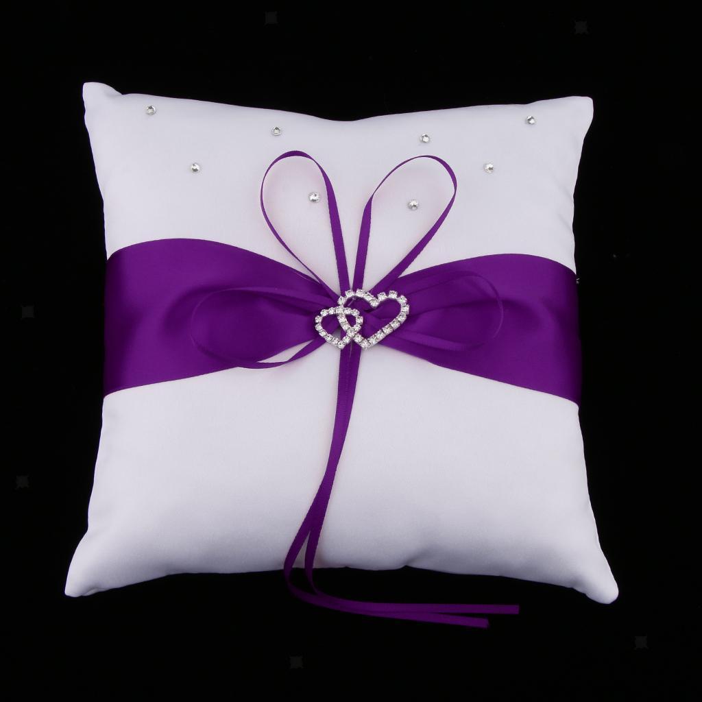 Wedding-Ribbon-Flower-Girl-Basket-Ring-Pillow-Guest-Book-Pen-Garter thumbnail 3