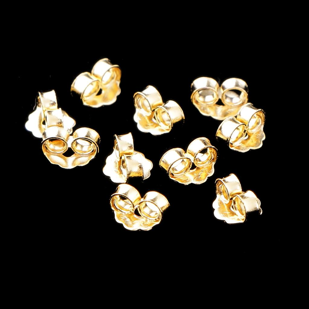 10pcs Butterfly Earring Safety Back Stopper Jewelry Ear Nut Earring Wire Stopper
