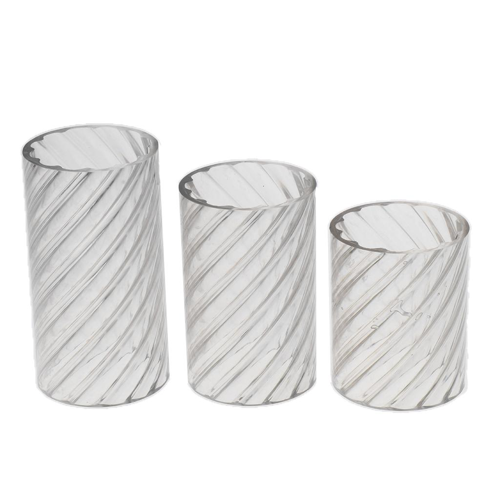 Round Cylinder Spiral Shape Plastic Clear Candle Making Mold Candle Mould
