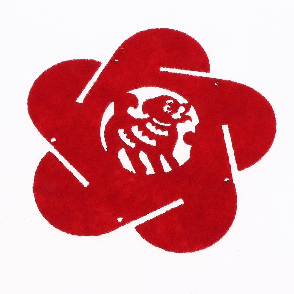 miniatura 4 - Lanterne floreali rosse fai-da-te Kit non tessuti artigianali Artigianato