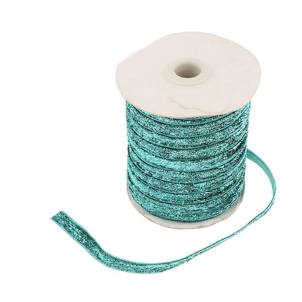 49Yds-3-8-034-Glitter-Velvet-Grosgrain-Ribbon-for-DIY-Crafts-Headband-Clips-Bow thumbnail 12