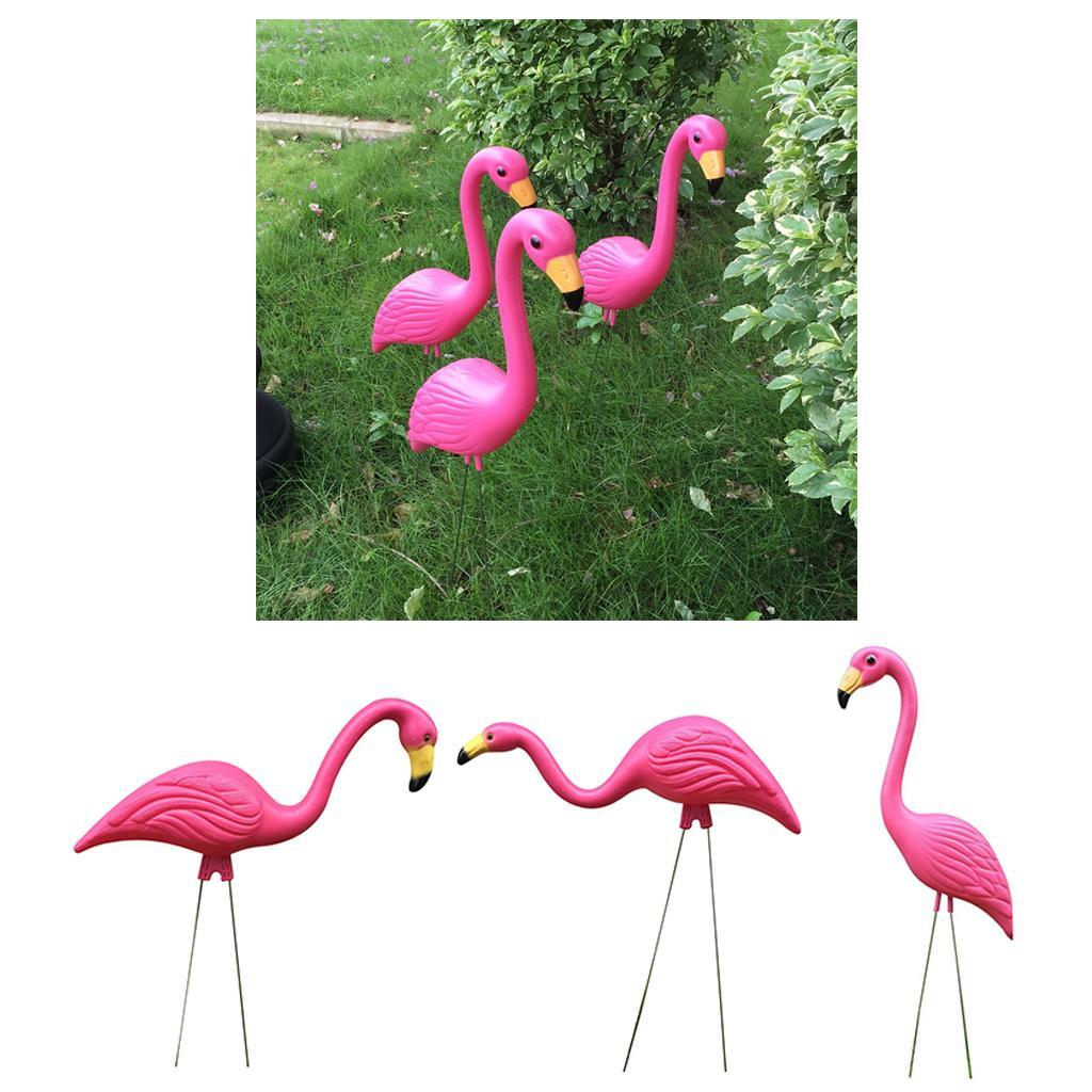 Realistic Large Pink Flamingo Garden Decoration Lawn Art ...