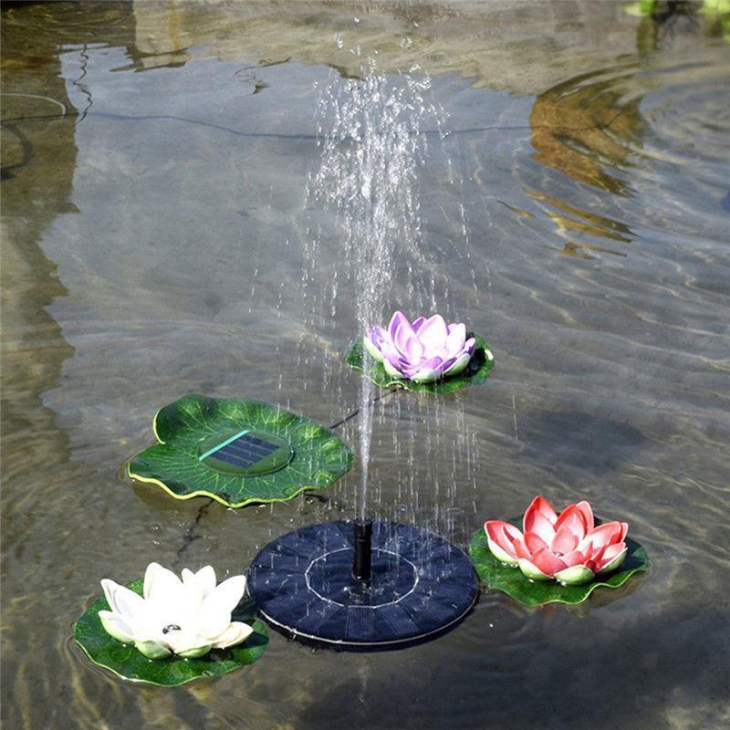 Springbrunnen Solar Wasserpumpe schwimmender Fontäne Pumpe für Gartenteich eBay
