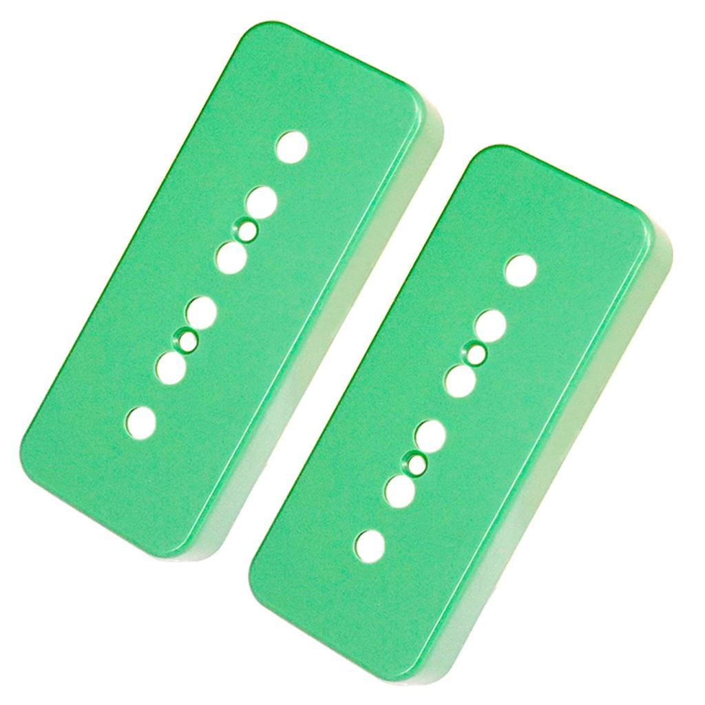 Set-of-2x-P90-Sopabar-Pickup-Covers-Single-Coil-for-Gibson-LP-Guitar-Parts thumbnail 3