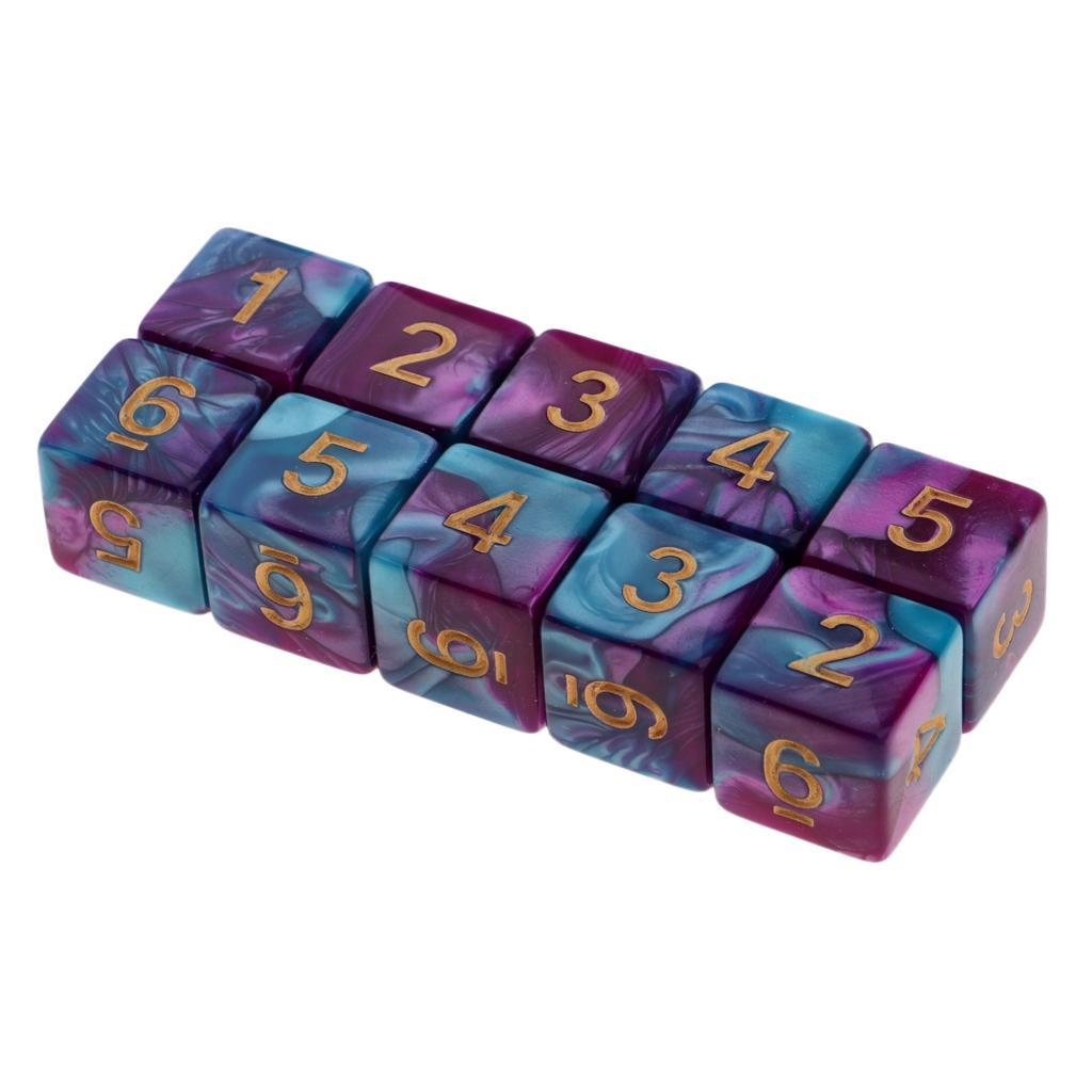 10pcs-D6-16mm-Dice-for-Friends-Family-Travel-Board-Games-Gifts thumbnail 15