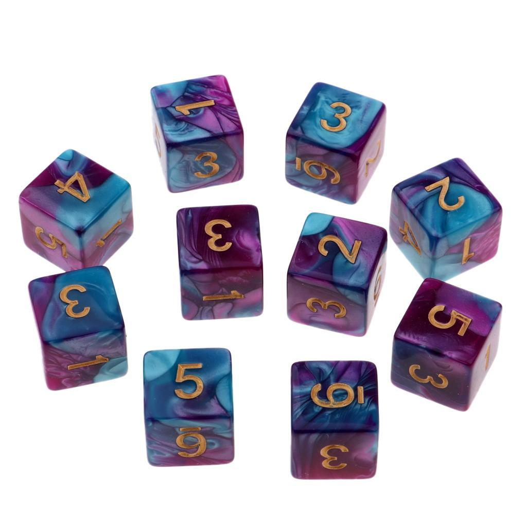 10pcs-D6-16mm-Dice-for-Friends-Family-Travel-Board-Games-Gifts thumbnail 16
