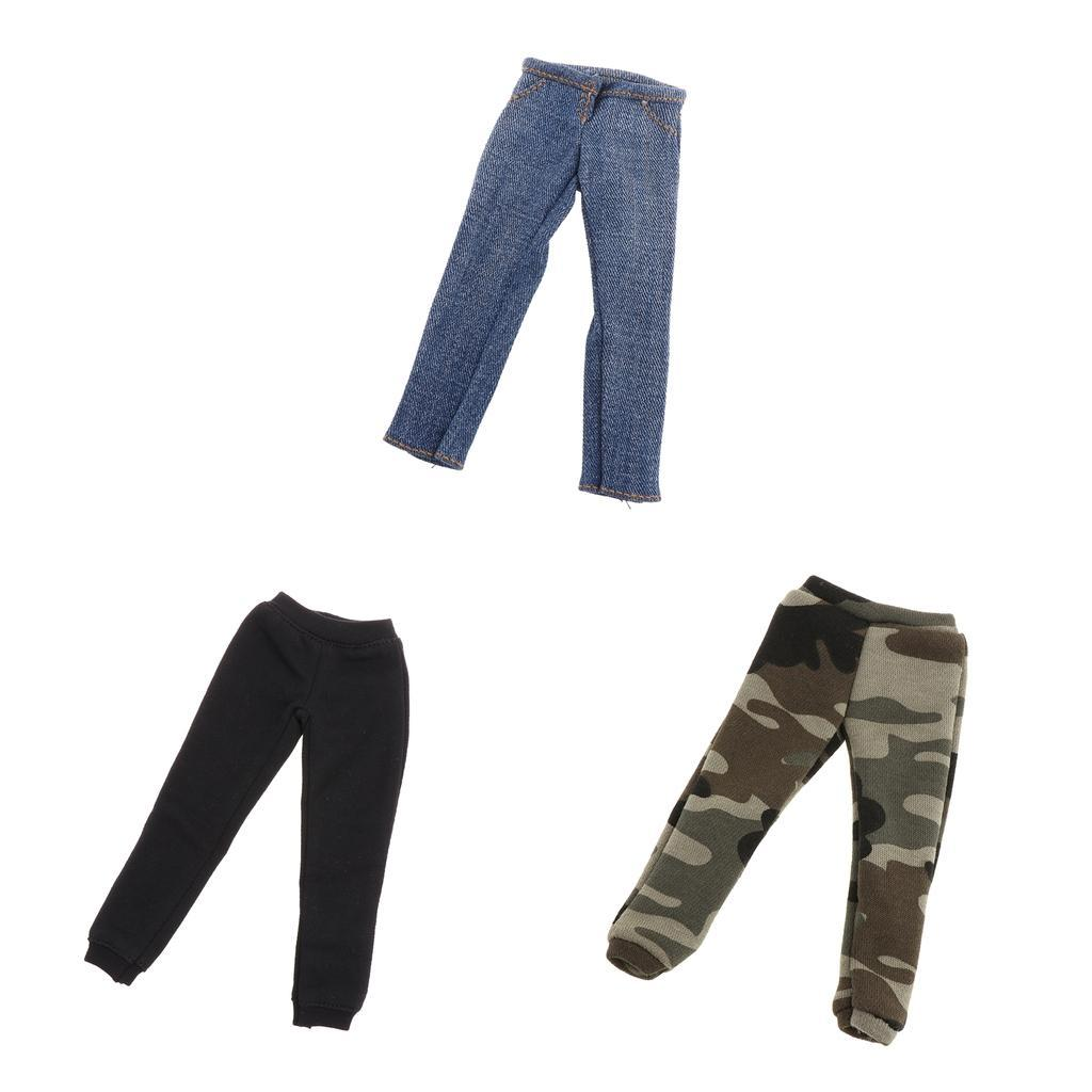 1-6-Man-039-s-Fashion-Casual-Trousers-3-Styles-for-12-039-039-Action-Figures-Hot-Toys thumbnail 3