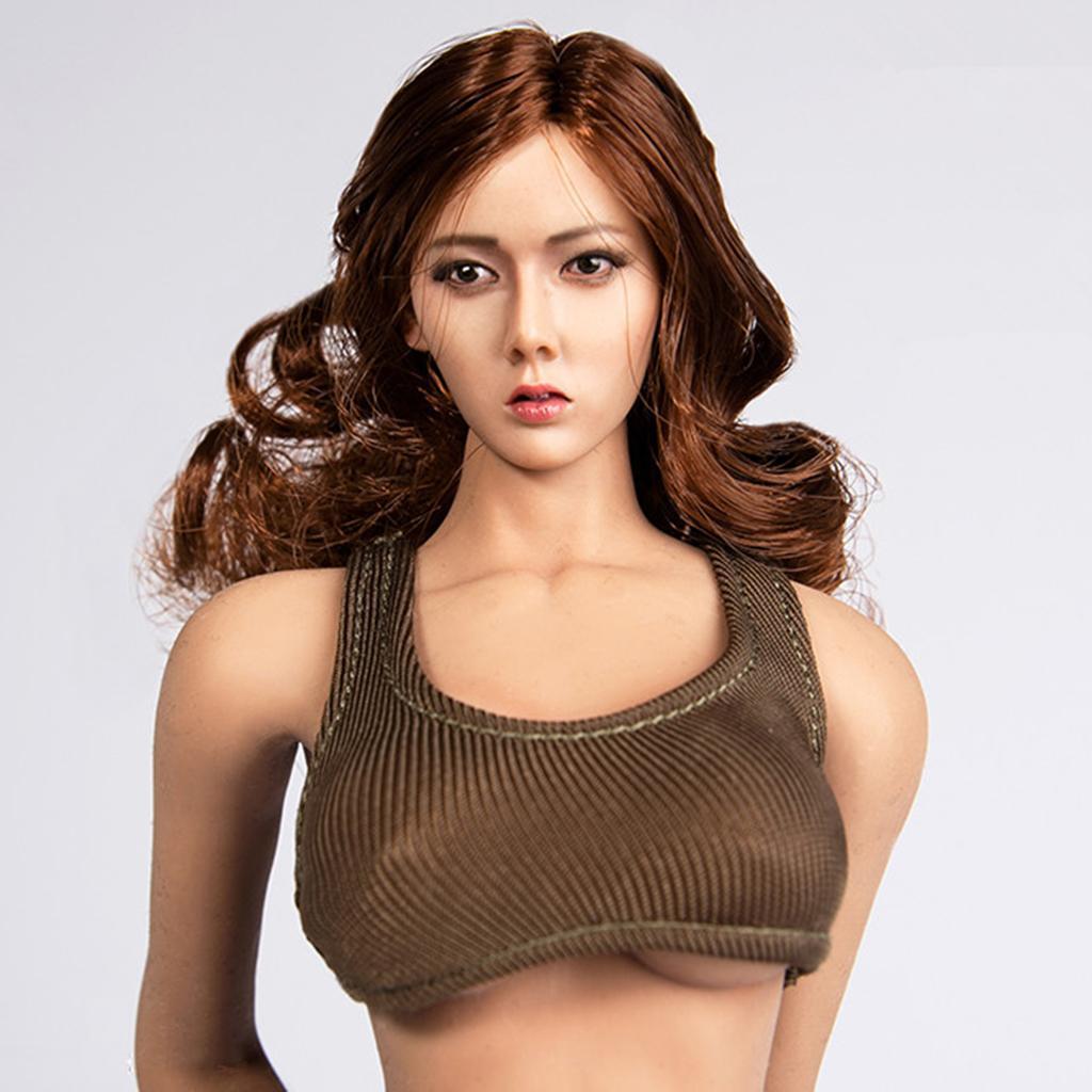1-6-Scale-Model-Hot-Vest-12inch-Female-Action-Figure-White-Black-Dark-Green thumbnail 9