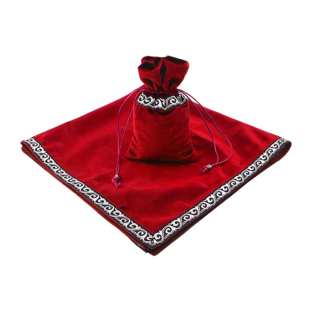 Altar-Tarot-Table-Cloth-W-Divination-Cards-Bag-Wicca-Tablecloth-Pouch miniatura 12