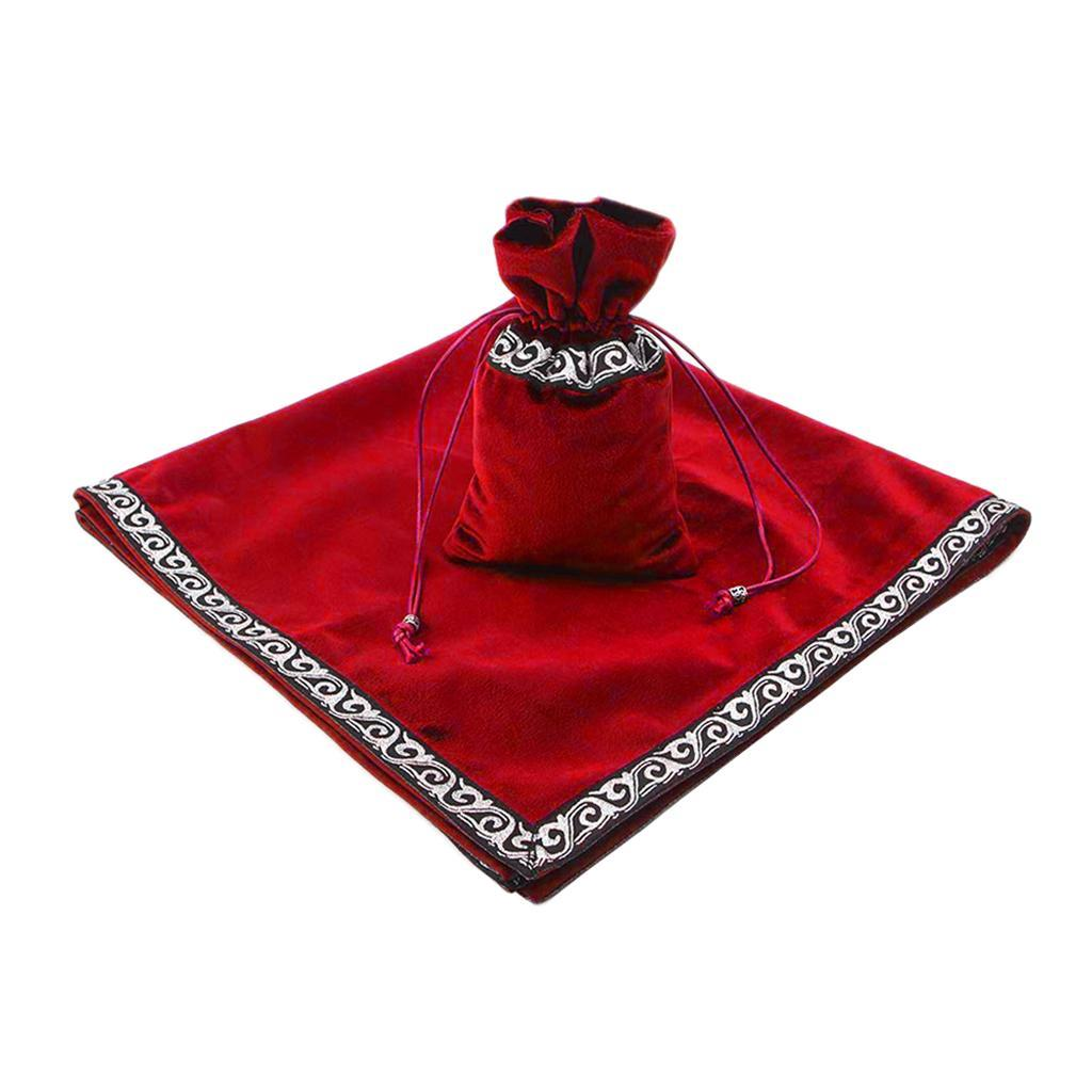 Altar-Tarot-Table-Cloth-W-Divination-Cards-Bag-Wicca-Tablecloth-Pouch miniatura 13