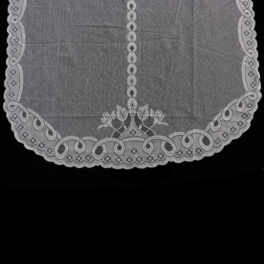 Ribbon Pull Up Lace Roman Curtain Balloon Tier Cafe