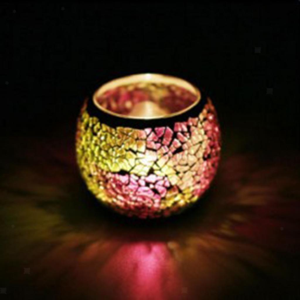 Assorted-Moroccan-Mosaic-Glass-Votive-Candle-Tea-Light-Candelabra-Candlestick thumbnail 34