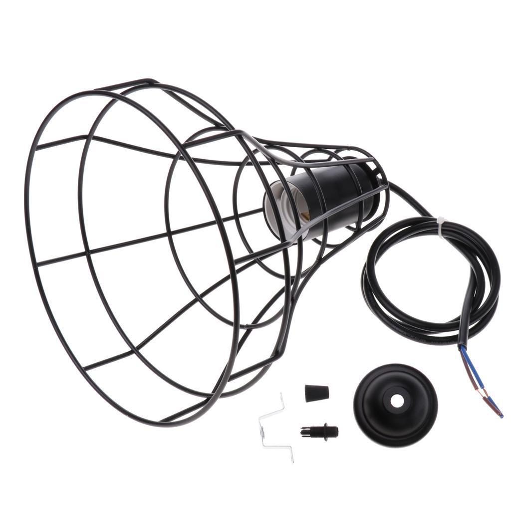 E27-Metal-Lampshade-Ceiling-Vintage-Retro-Chandelier-Fitting-LED-Pendant-Light thumbnail 20