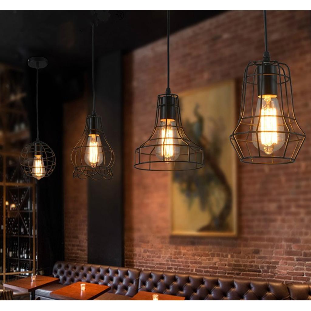 E27-Metal-Lampshade-Ceiling-Vintage-Retro-Chandelier-Fitting-LED-Pendant-Light thumbnail 21