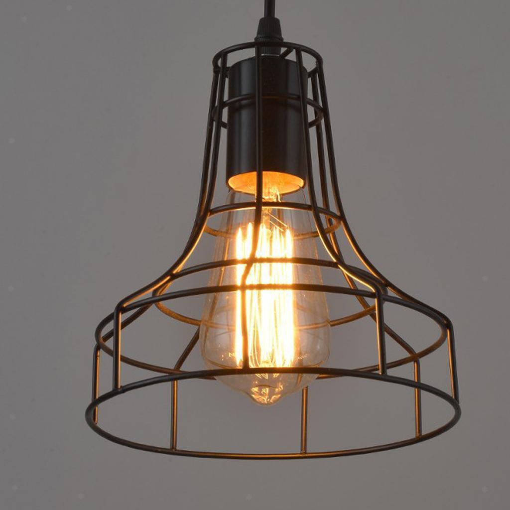 E27-Metal-Lampshade-Ceiling-Vintage-Retro-Chandelier-Fitting-LED-Pendant-Light thumbnail 17