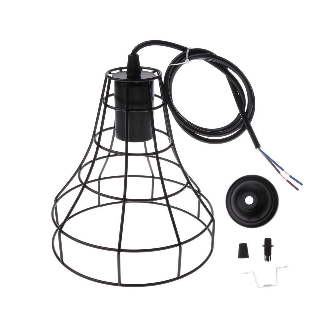 E27-Metal-Lampshade-Ceiling-Vintage-Retro-Chandelier-Fitting-LED-Pendant-Light thumbnail 19