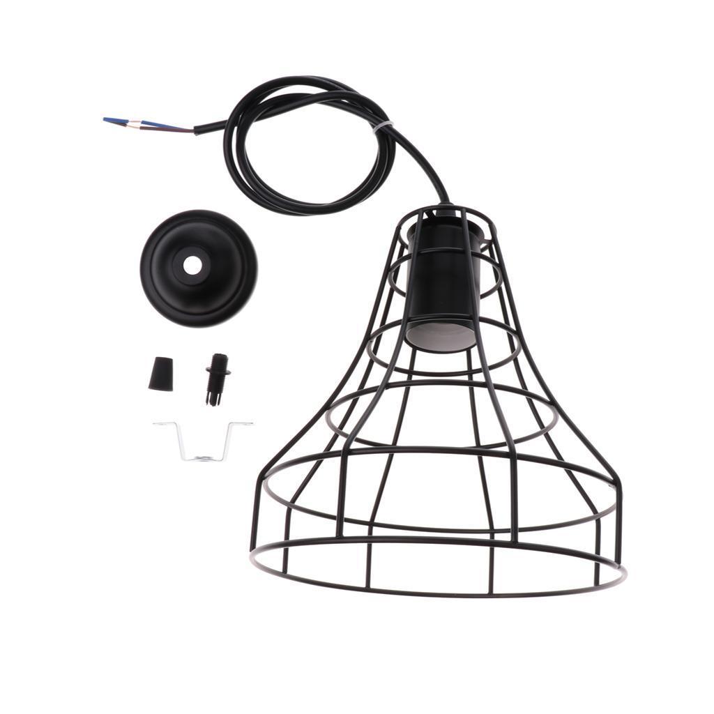 E27-Metal-Lampshade-Ceiling-Vintage-Retro-Chandelier-Fitting-LED-Pendant-Light thumbnail 16