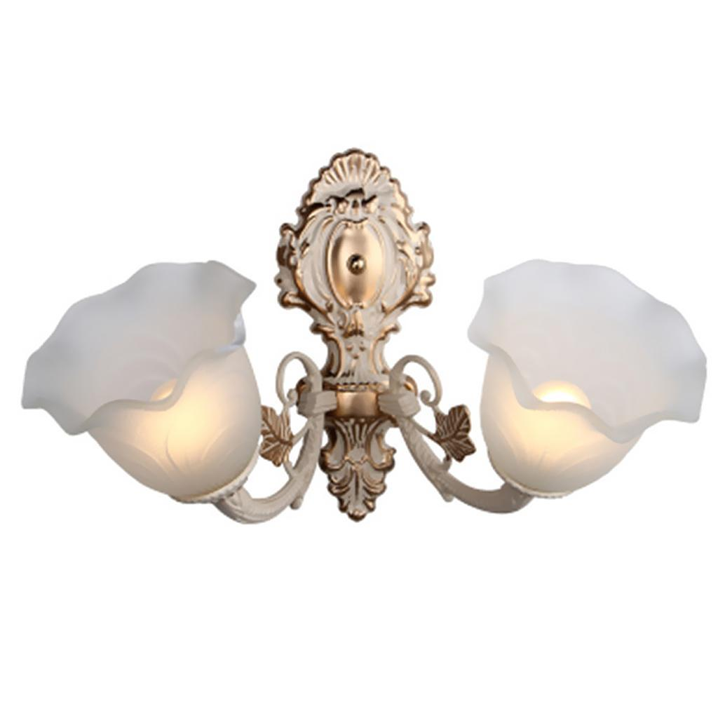 Tulip-Bell-Shape-Vintage-Frosted-amp-Clear-Glass-Lamp-Shade thumbnail 17