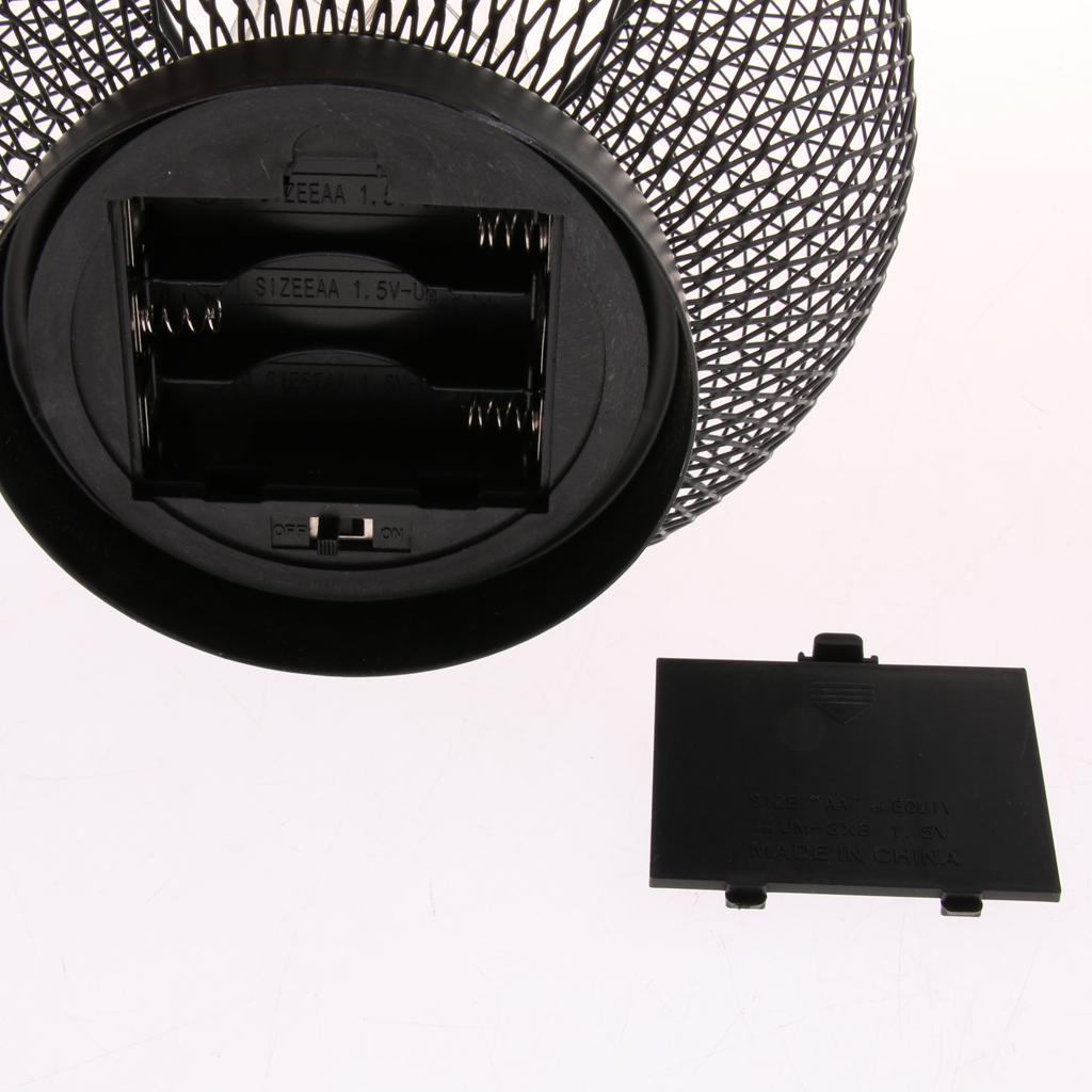Luce-Notturna-Filo-Di-Ferro-Funzionamento-a-Batteria-Decorazione-Domestica miniatura 8