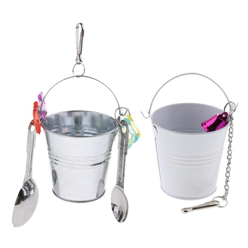 Alimentatore-per-gabbie-per-uccelli-Giocattoli-pendenti-per-pappagallo-ara miniatura 6