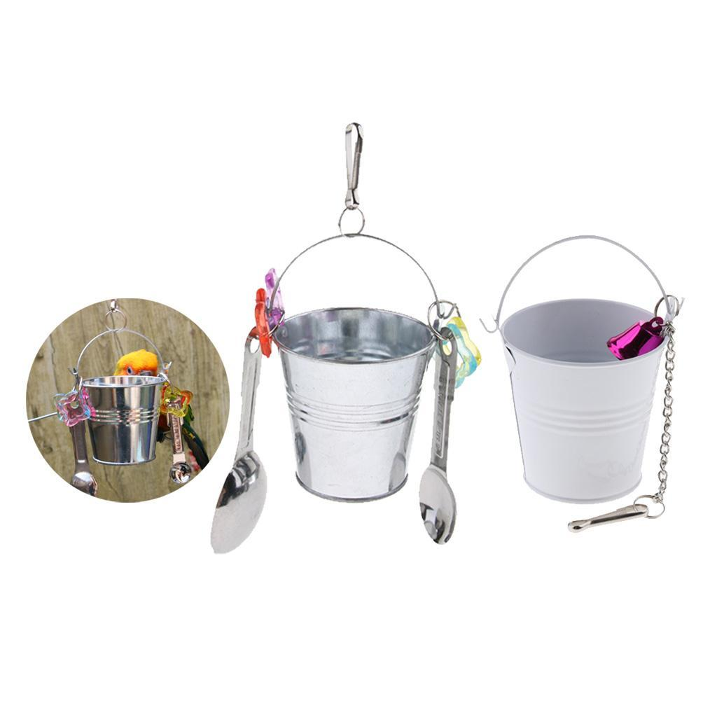 Alimentatore-per-gabbie-per-uccelli-Giocattoli-pendenti-per-pappagallo-ara miniatura 4