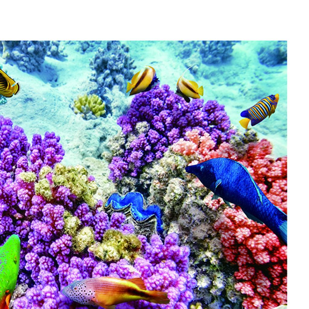 3D PVC Aquarium Background Poster Fish Tank Decorations