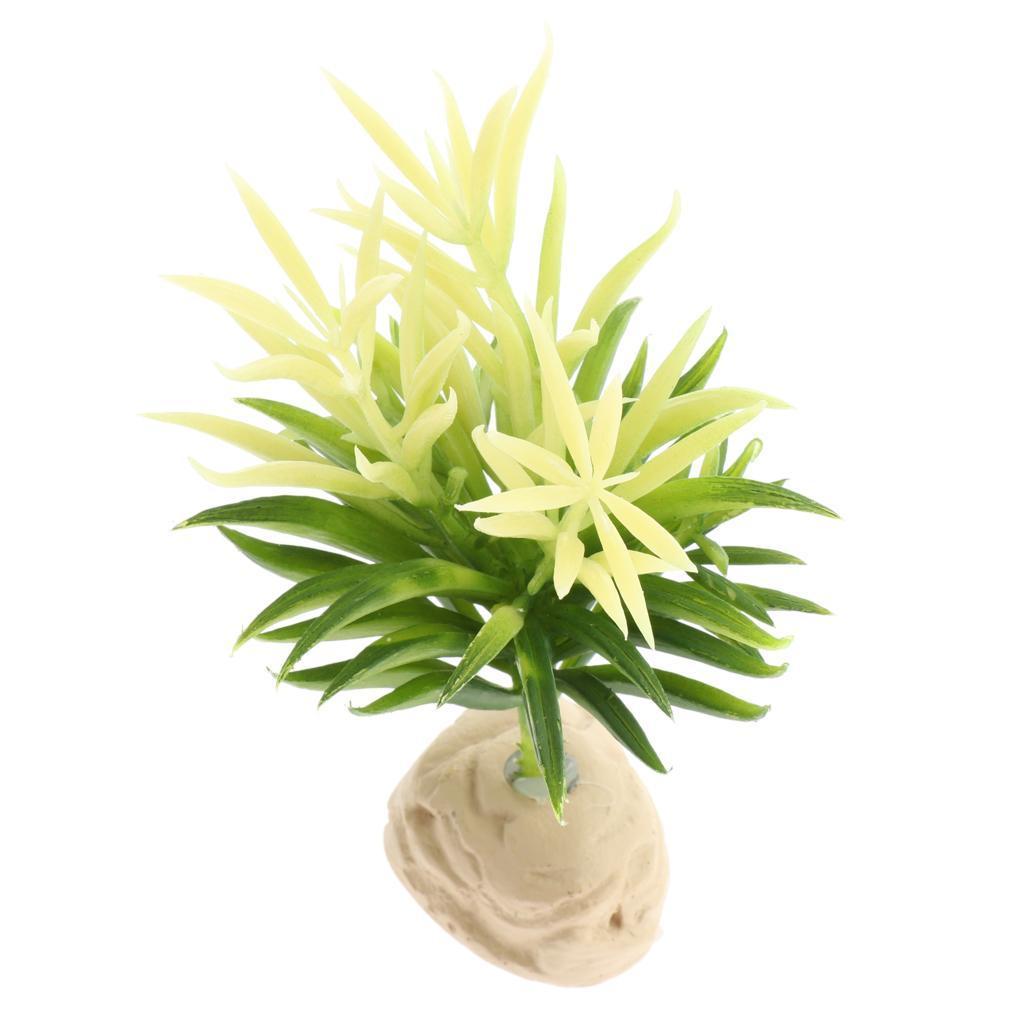 Artificiale-Acqua-Vegetale-Resina-Rifugio-Vivarium-Ornamento-Per-Rettile miniatura 8