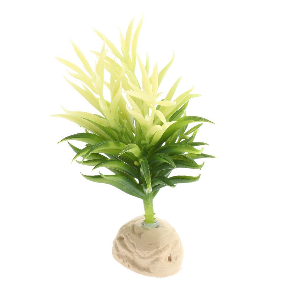 Artificiale-Acqua-Vegetale-Resina-Rifugio-Vivarium-Ornamento-Per-Rettile miniatura 10