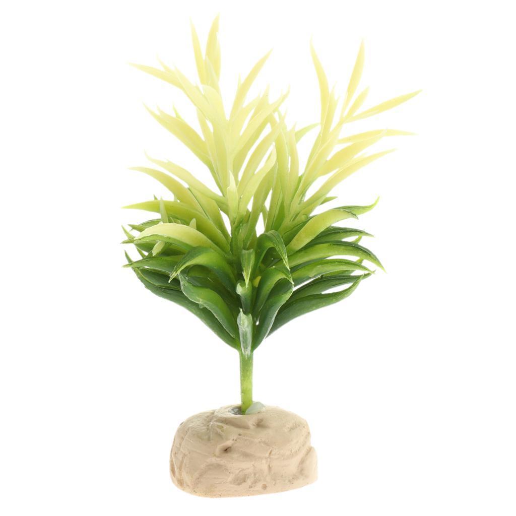 Artificiale-Acqua-Vegetale-Resina-Rifugio-Vivarium-Ornamento-Per-Rettile miniatura 7