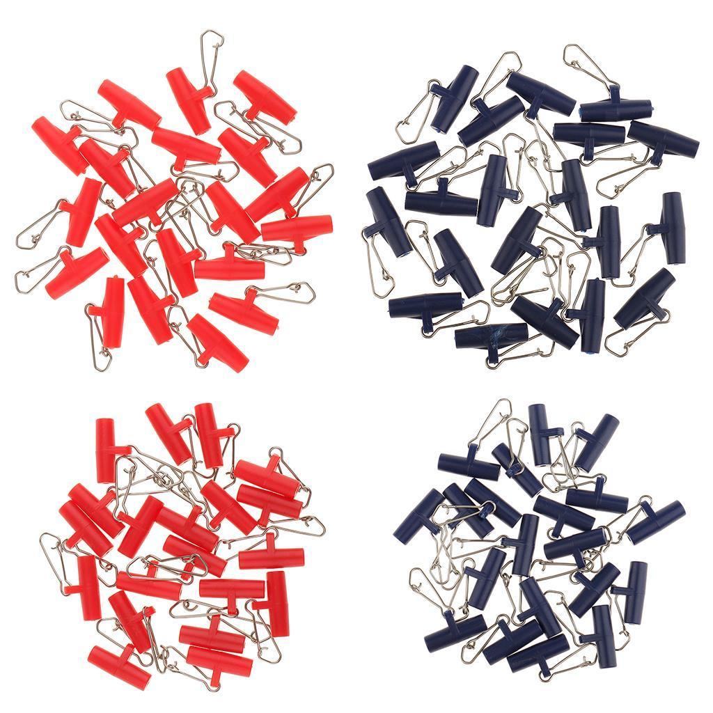 20Pcs-Plastic-Head-with-Hooked-Snap-Sinker-Slide-Swivels-Fishing-Connectors miniature 4
