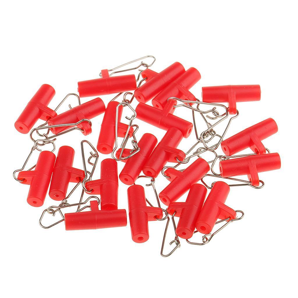 20Pcs-Plastic-Head-with-Hooked-Snap-Sinker-Slide-Swivels-Fishing-Connectors miniature 5