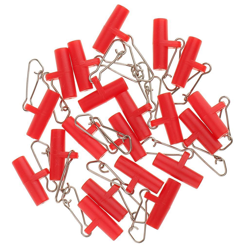 20Pcs-Plastic-Head-with-Hooked-Snap-Sinker-Slide-Swivels-Fishing-Connectors miniature 9