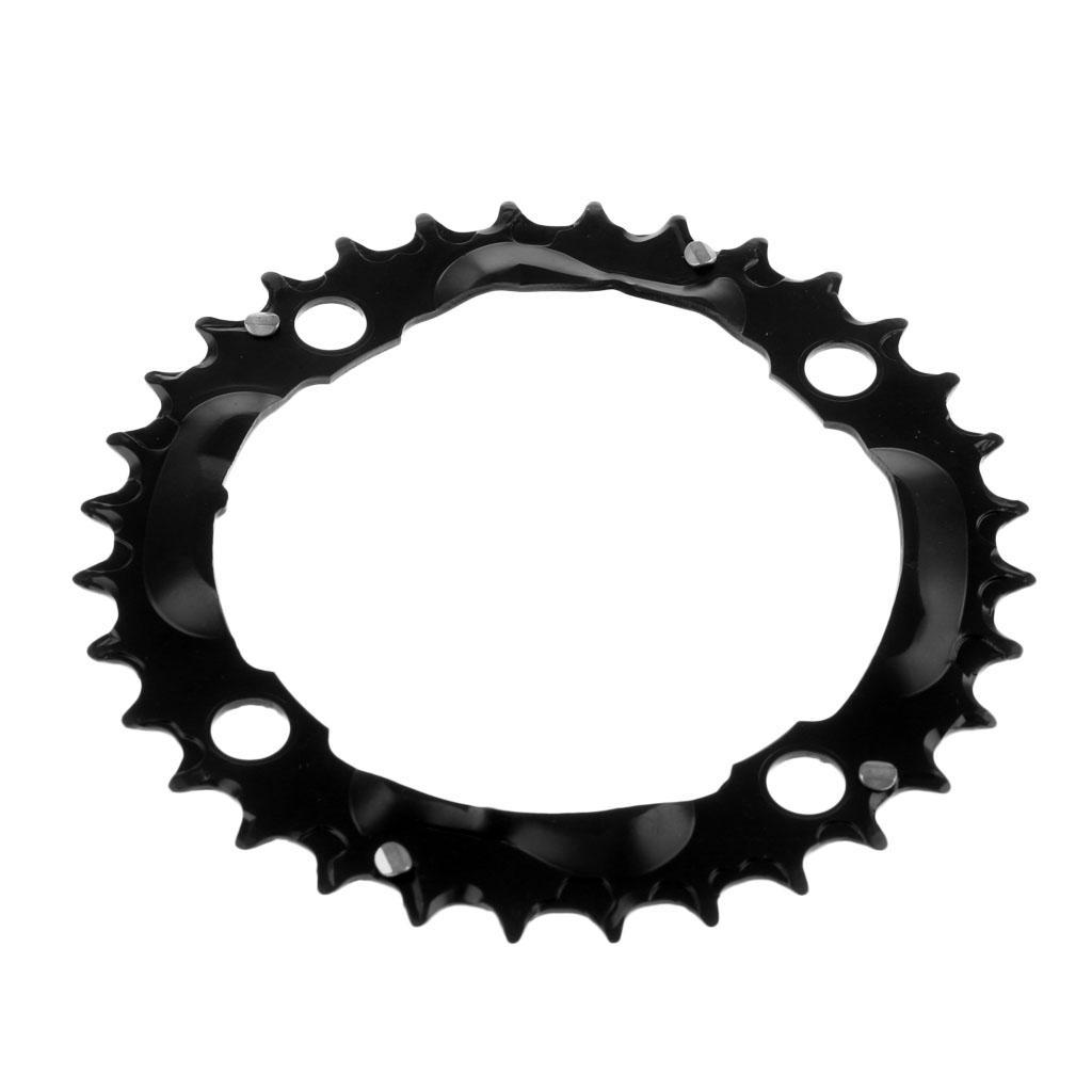 Plateau-Cassette-de-Velo-Velo-de-Montage-Bicyclette-Pignon-Fixe-104BCD-Noir miniature 6