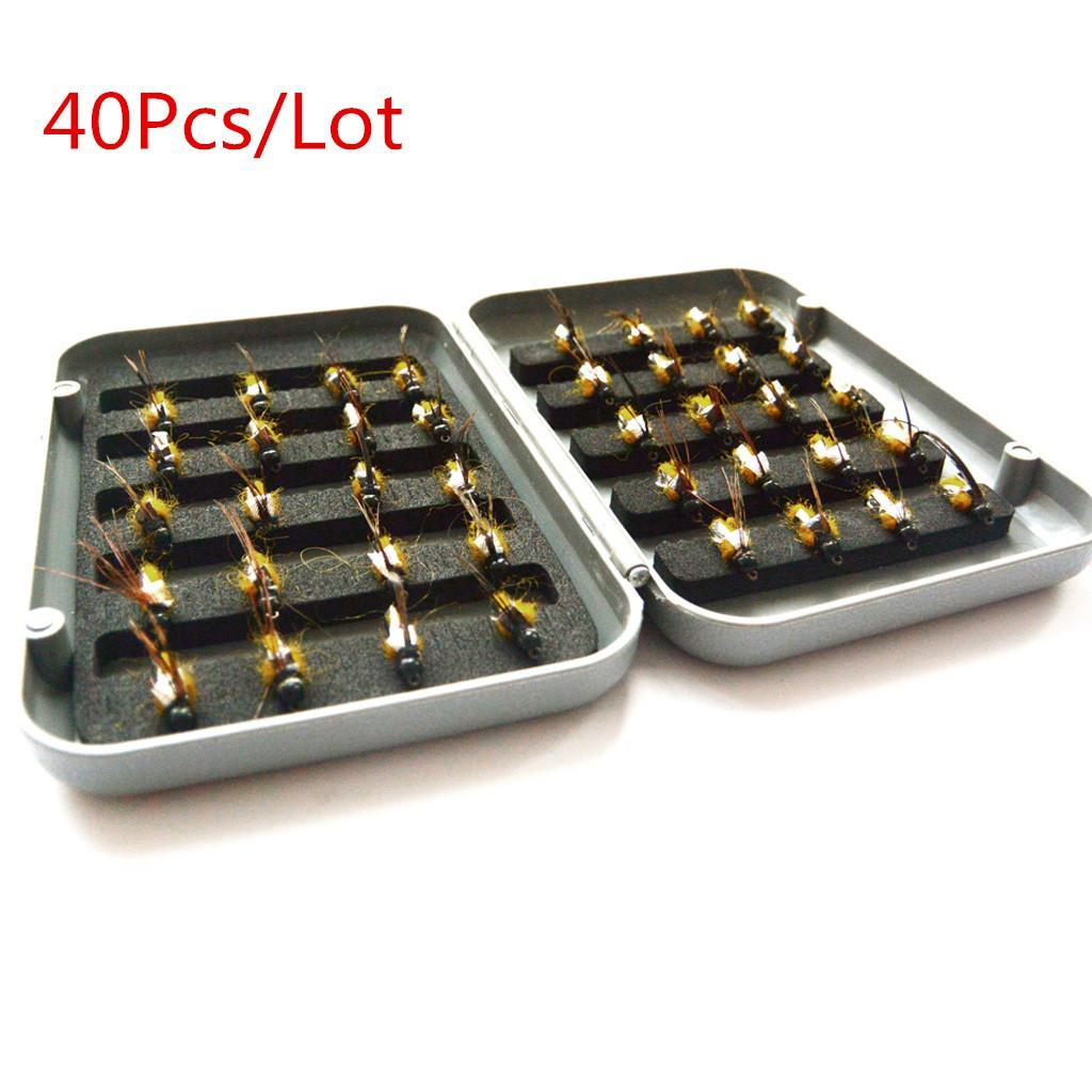 40Pcs-Trout-Fly-Fishing-Flies-Wet-Dry-Lure-Lures-Fish-Baits-Hooks-with-Box thumbnail 6