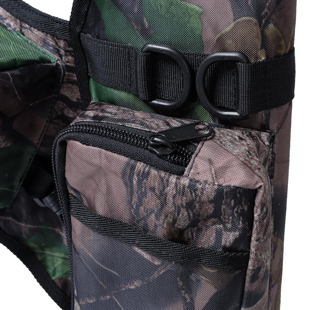 Archery-4-Tube-Camo-Arrow-Quiver-Holder-Belt-Waist-Bow-Hunting thumbnail 25