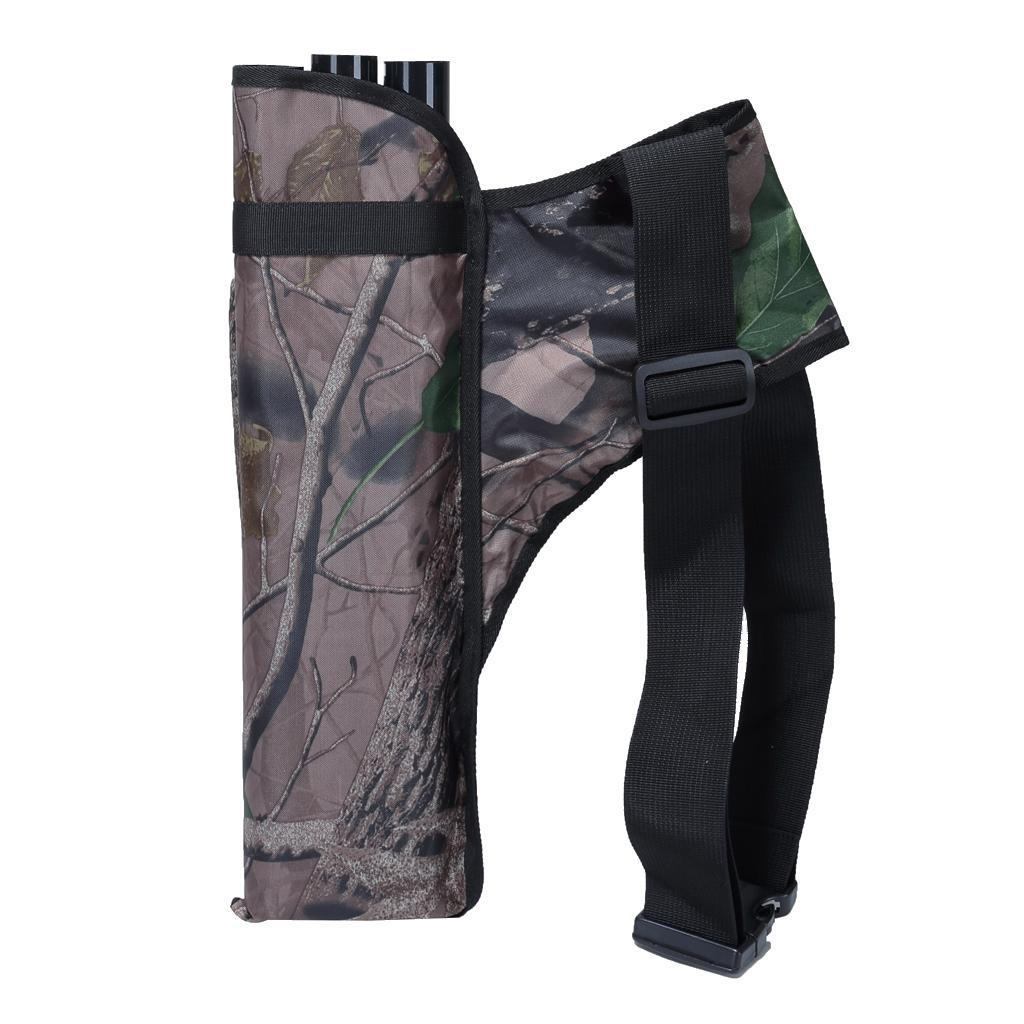 Archery-4-Tube-Camo-Arrow-Quiver-Holder-Belt-Waist-Bow-Hunting thumbnail 24
