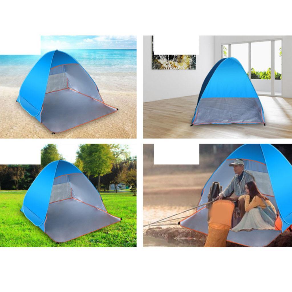 Camping-tente-automatique-Pop-Up-pliage-instantane-plage-soleil-UV-Shelter miniature 4