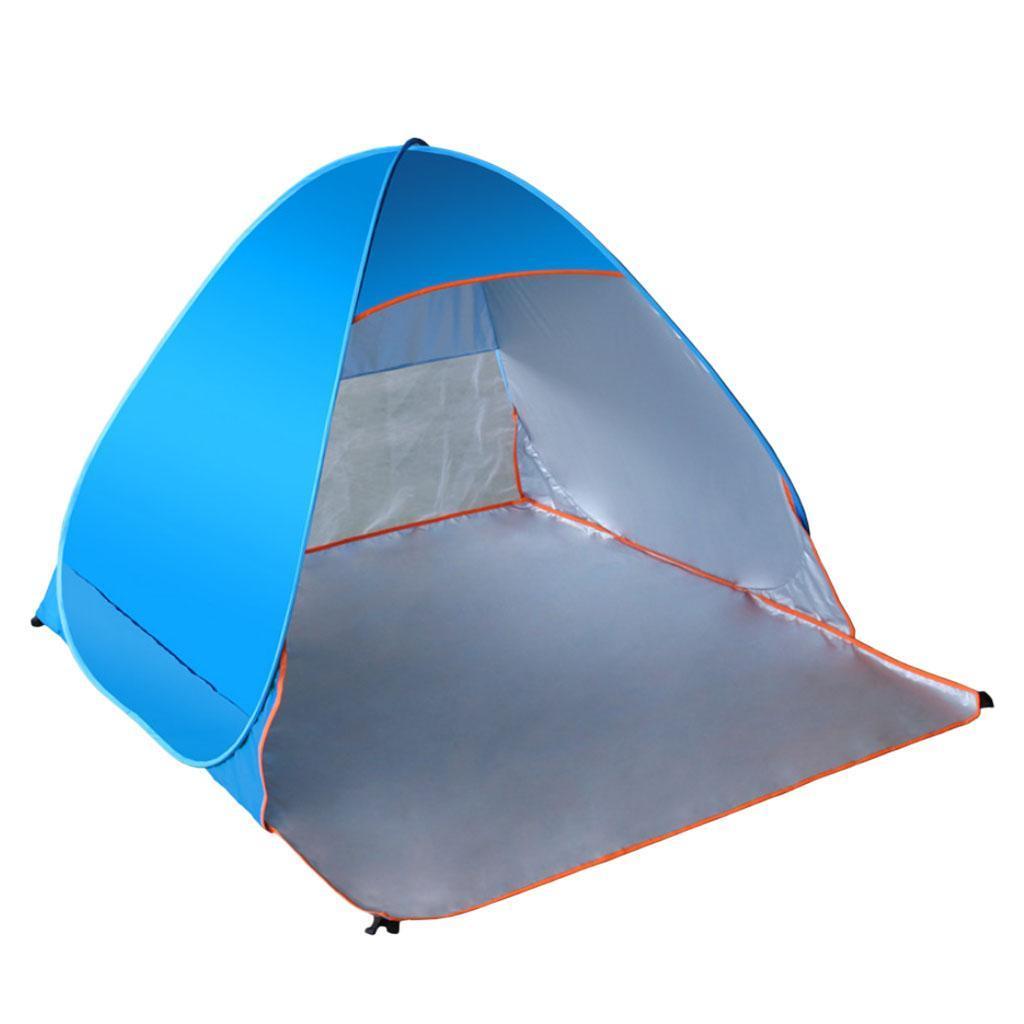 Camping-tente-automatique-Pop-Up-pliage-instantane-plage-soleil-UV-Shelter miniature 3