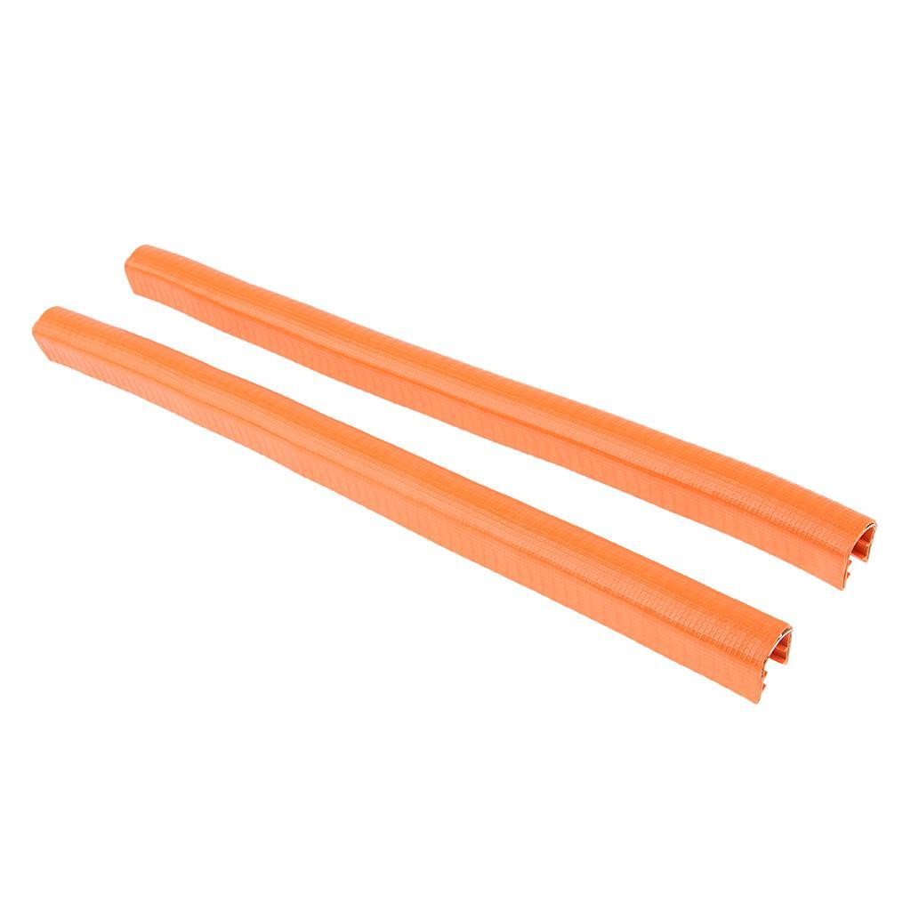 2-Pezzi-Gomma-Longboard-Skateboard-Deck-Protection-Strip-Nose-Cinturino-Di miniatura 3