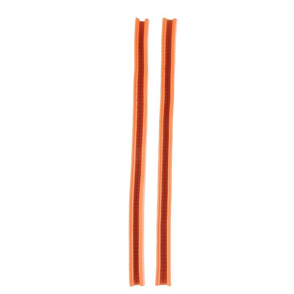2-Pezzi-Gomma-Longboard-Skateboard-Deck-Protection-Strip-Nose-Cinturino-Di miniatura 4